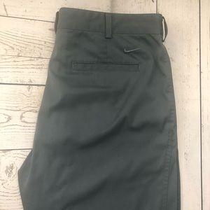 Nike Golf W34 x L34 Gray Dri-Fit Flat Front Pants